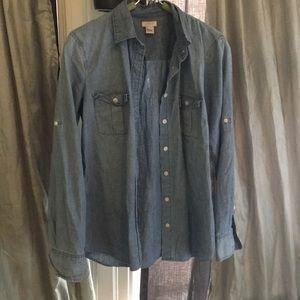 Jcrew chambray shirt XS